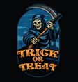 halloween design of grim reaper vector image vector image