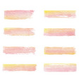 hand drawn watercolor set of brush textures of vector image vector image