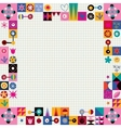 hearts stars and flowers abstract art border