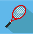 icon of toy tennis racket in flat design with vector image