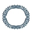 Isolated pattern with floral lace ornament for vector image vector image