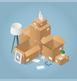 isometric moving to new house vector image vector image