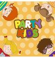 kids celebrating birthday party vector image