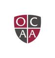 letter ocaa advocate vector image vector image