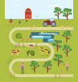 map of the farm vector image vector image
