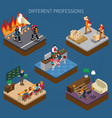 modern professions isometric composition vector image vector image