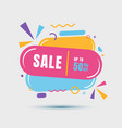 modern sale banner geometric colorful template vector image