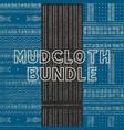 mudcloth bundle vector image vector image
