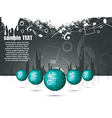 musical theme with disco balls vector image vector image