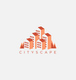 nature cityscape logo inspiration vector image
