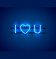 Neon text i love you signboard