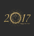 New Year Clock 2017 vector image