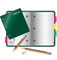 Notebook collection small vector image vector image