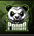 panda head mascot logo design vector image