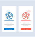pentacle satanic project star blue and red vector image vector image