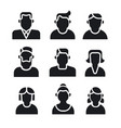 people avatars set vector image vector image