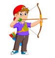 professional archer is archering vector image