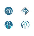 property and construction logo design vector image vector image