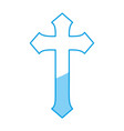 religious cross icon vector image vector image