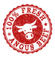 scratched 100 percent fresh angus beef stamp seal