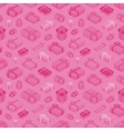 Seamless pattern with the isometric colored gift vector image vector image