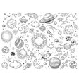 space doodle astrology doodles sketch space vector image