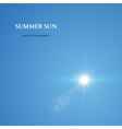 summer sun sky background vector image vector image