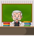 teacher standing at back desk vector image vector image