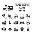 toys set icons in black style big collection toys vector image vector image