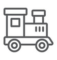 train toy line icon child and railroad vector image