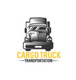 truck logo cargo delivery logistic vector image vector image