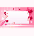 valentines day love background template vector image vector image