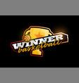 winner basketball logo modern professional vector image vector image