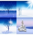 Winter Landscape set vector image vector image