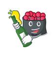 with beer ikura mascot cartoon style vector image vector image