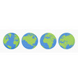 world earth globes icons set earth planet vector image