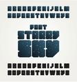 alphabet letters design vector image