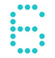 digital number 6 six display board round dot vector image