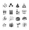 Icons set Birthday and Celebration vector image