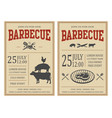 vintage barbecue party invitation bbq food flyer vector image