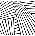 abstract black line white pattern image vector image