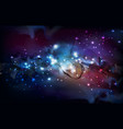 abstract open space background starfield universe vector image