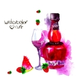 alcohol and sweets watercolor vector image vector image