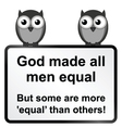 All men equal vector image vector image