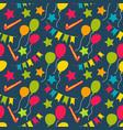 birthday seamless pattern birthday pattern vector image vector image