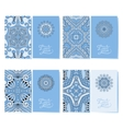 blue colour collection of ornamental floral vector image