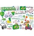 Brazilian travel doodles vector image vector image