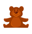 brown bear soft toy vector image