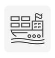 cargo shipping icon vector image vector image