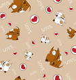 Cartoon dog pattern vector image vector image